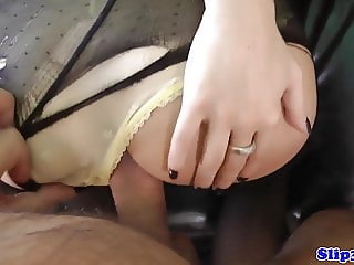 Teen POV doggystyled by horny pensioner