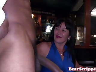 Amateur housewives cheating at stripper party