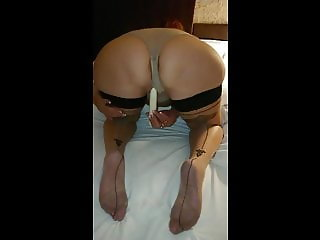 Wife masturbate with vibrator in hotel room