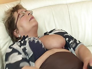 Chubby grandma wants his cock