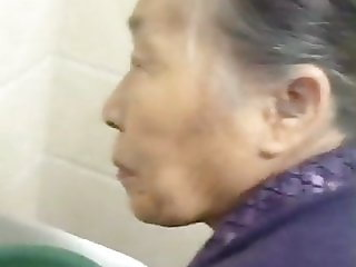 Fondling My Chinese Granny Old Pussy