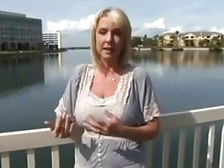 Busty  Milf  Blonde gets a creampie