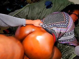 Big-Ass Ebony Slut gets Pregnant by his Hung Black Cock POV