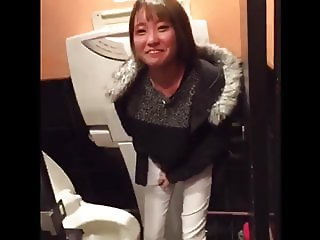 Japanese young lady toilet