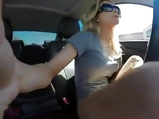 Hot Blonde Squirting Orgasm In Her Car