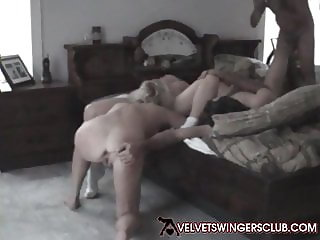 Velvet Swingers Club couples Real amateurs playing at home