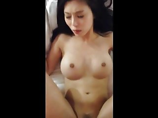 Asian with big tits getting fucked