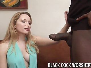 You are going to watch me gag on his big black cock