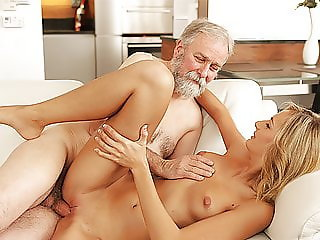 OLD4K. Old daddy fingers wife's twat to prepare it for...