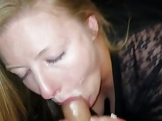Cheating couple bday bj