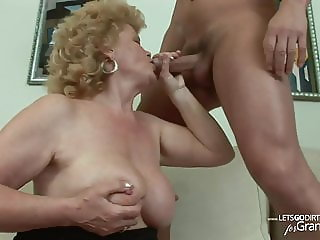 Blonde Shorthair Granny VS young Guy