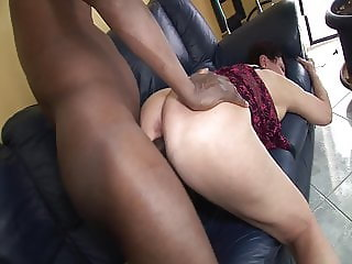 Black guy fucks granny