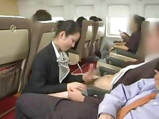 Japanese Flight Attendant taking care of a BWC (WMAF)