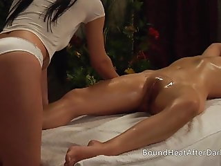 Pleasure and Pain: Mistress Enjoys Massage And Pussy Rubbing