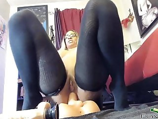 Ebony inked MILF Hola fucking booty and squirting like fount