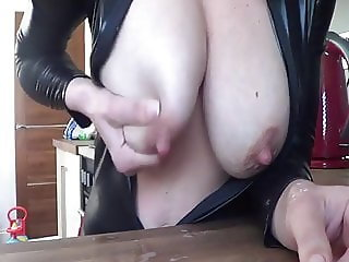 Milking herself Great