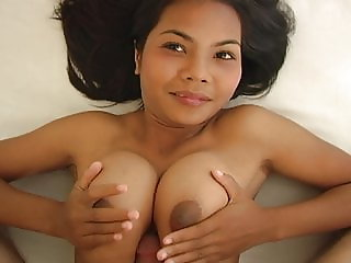 18yo Thai creampie with big natural tits