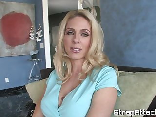 Bigtitted domina pegging her submissive