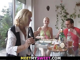 Happy birthday leads to old threesome