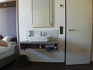 Caught wanking for the hotel maid