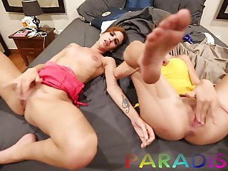 Paradise Gfs - Twins get fucked together at hotel - Part 2