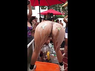 Ass Season #111 - great ass covered in champagne