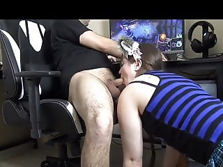Blowjob with swallow and Gaming