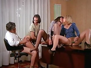 Vintage Hot Sex and Toying Action at the Office