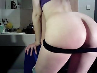 Innocent Young Teen Masturbating on Cam with Brush