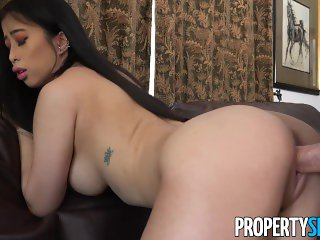 PropertySex - Asian real estate agent with big natural tits fucks client