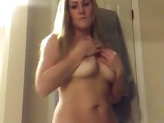 Sexy mature blonde gets naked
