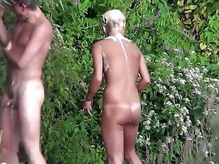 Shaving The Pussy At The Beach Shower