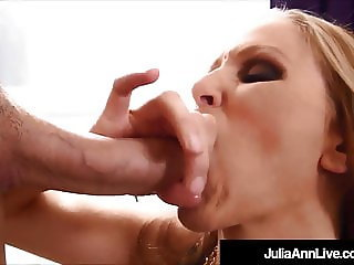 Horny Hot Milf Julia Ann Sucks A Cock & Gets Her Boy Batter!