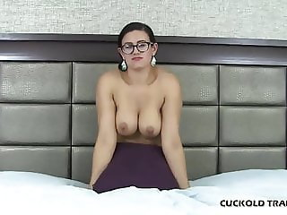 He is going to stretch out my pussy while you watch