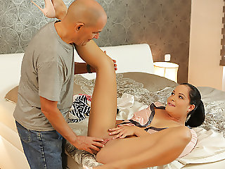 DADDY4K. Dirty girl allows BF's daddy ejaculate on her...