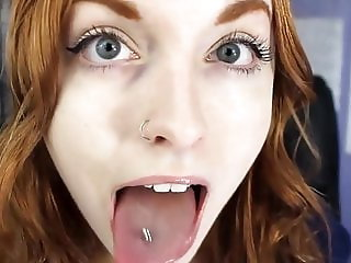 Hot RedHead Tongue Fetish