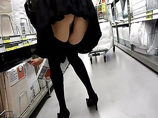 Gisela secretary shopping in the supermarket