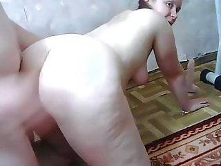 Chubby couple home video