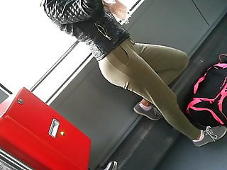 Perfect Teen Ass on the Bus