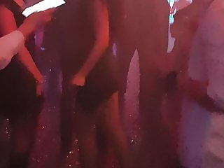 2 busty chicks dancing in front of me