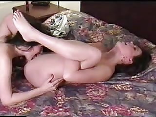 Poolside lesbians in bed