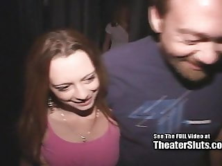 Pretty Small Tits Teen Gangbang in Porn Theater