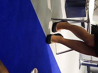 Candid expo legs and heels 2