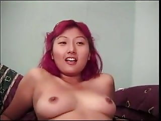 chinese girl with colored hair fucks old ed