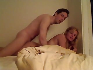 Homemade Amateur Blonde Girl with Big Boobs  fucks on cam