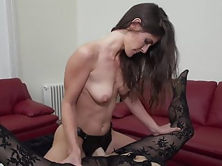 Daughter fucks busty mature mother with strapon