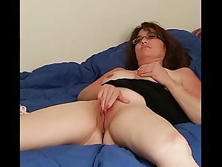 A wife rubbing one out for her husbands camera