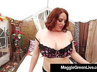 Big Boobed Maggie Green Banged By Angelina Castro!