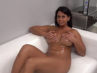 Hot Slovakian girl in her first casting