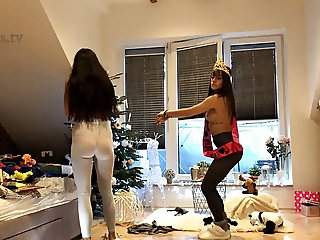 Transparent Leggings and See through Spandex Candid Style